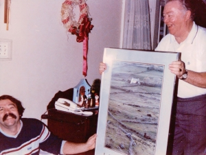 Dad (who died 10 yrs ago on March 29th) presenting Jimmy's Xmas gift....a picture of the Irish countryside