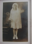 My Mom's First Communion picture circa 1930