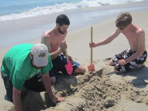 "The ""sand diggers"" Ben, Jake & Alex"