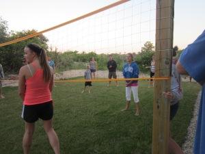 "The ""volley ballers"" Emily, Rachel, Luke, Joe"