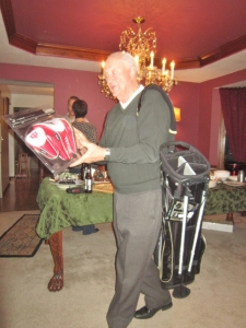 Indiana head covers/Purdue golf bag.......Uncle Bill's gifts from the brothers