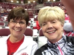 Jo and I watching the BB Buckeyes