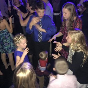 Schultheis grandkids mixing it up on the dance floor