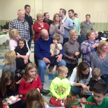 """All of the kids were amazingly patient in waiting their """"Santa"""" turn!"""